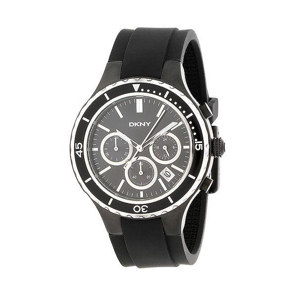 Pánské černé analogové hodinky DKNY