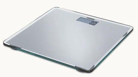 Soehnle 63538 Slim Silver - ultratenká skleněná digitální osobní váha