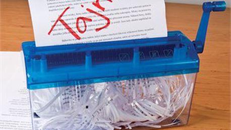 Domácí skartovačka zničí všechny vaše soukromé a důvěrné dokumenty