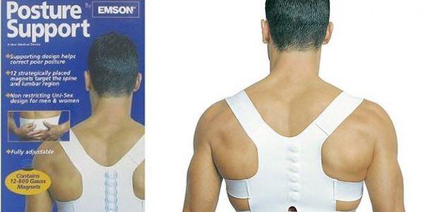 Magnetický rovnací pás na záda Power Magnetic - správné držení zad a žádné bolesti!