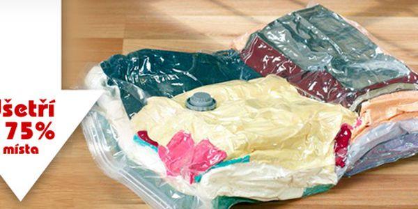 4 vakuové pytle (68*98 cm) ke skladování oblečení: ušetříte až 75 % prostoru!
