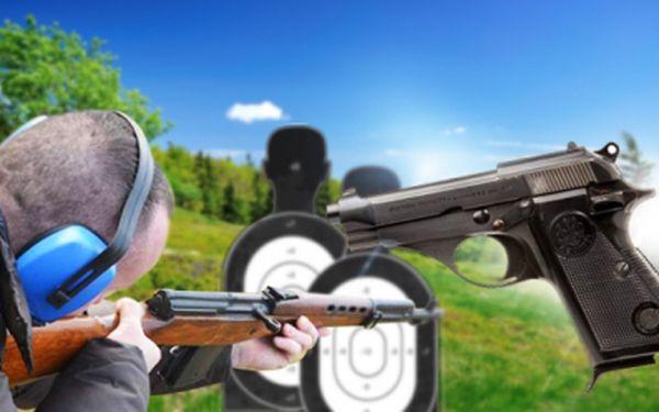 Akční STŘELBA z OSTRÝCH ZBRANÍ včetně zapůjčení všech OCHRANNÝCH POMŮCEK jen za 1260 Kč! K dispozici 150 ks NÁBOJŮ a 9 různých zbraní. Vyzkoušet si můžete i střelbu ze SAMOPALU! Neváhejte a využijte 50% slevy!