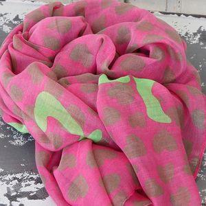 Heboučký šátek v sytých barvách Forever yours green