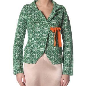 Úžasný pletený kabátek - green 233
