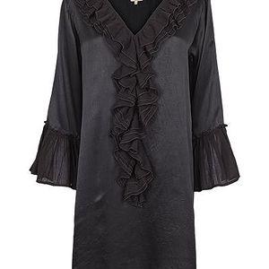 Luxusní šaty z lesklého hedvábí v elegantní černé barvě Black