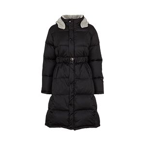 Dlouhý zimní kabát Black