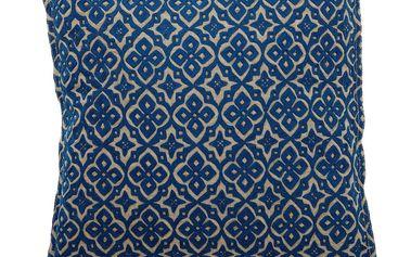 Polštář Blue pattern krásně a stylově oživí interiér50x50 cm