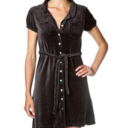 Sametové černé šaty 989