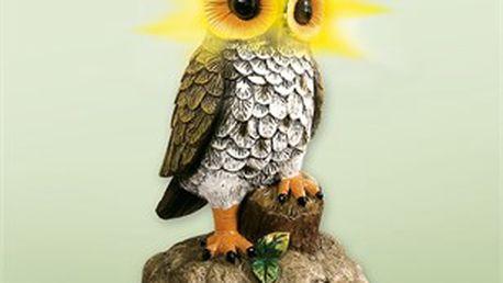 Solární sova je velmi podařenou kombinací mile působící sovy a solární lampy