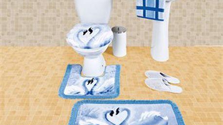 Sada 3 ks koupelnových předložek s originálním motivem labutí