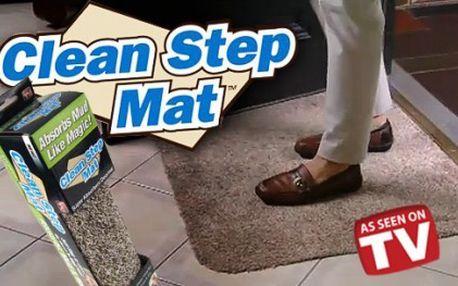 Praktický pomocník do každé domácnosti, rohožka Clean step mat, díky které všechny nečistoty zůstanou za vašimi dveřmi za pouhých 269 Kč!!