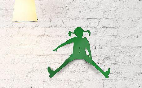 Háček Pipi dlouhá punčocha, 30 cm, zelená