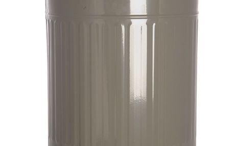Plechový odpadkový koš v šedé barvě Grey 49 L