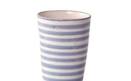 Originální keramický hrneček Blue stripe Marocco bez ouška od Tine K Home