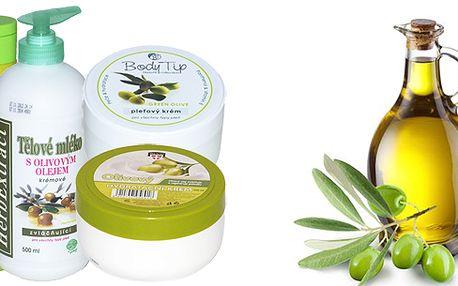 Speciální sada ozdravné olivové kosmetiky! Speciální sada 4 kusů olivové kosmetiky pro každodenní použití! Hydratuje a omlazuje pokožku! Speciální promo cena!