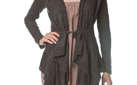 Nádherný jemný pletený svetřík 082