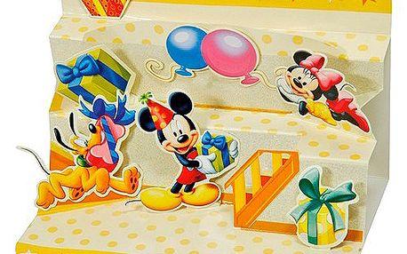 Blahopřání 3D Disney Mickey na párty