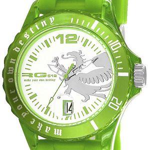 Zelené analogové hodinky s drakem RG512