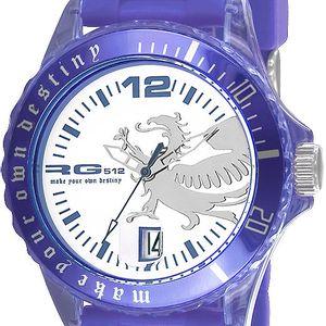 Fialové analogové hodinky s drakem RG512