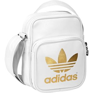 Unisex taška - adidas adicolor mini bag white/gold uni