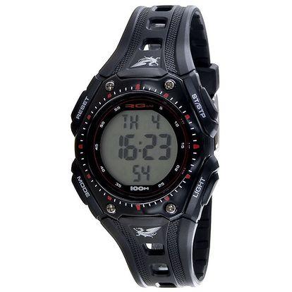 Sportovní černé kulaté digitální hodinky RG512