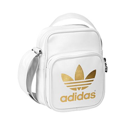 Unisex taška - adidas adicolor mini bag white/gold uni