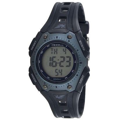 Sportovní modrošedé kulaté digitální hodinky RG512