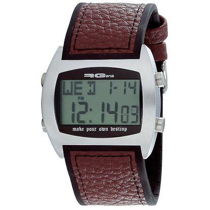 Multifunkční stříbrné digitální hodinky RG512