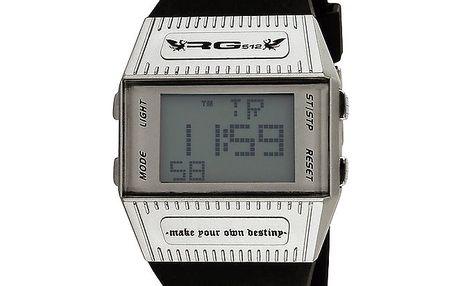 Hranaté digitální hodinky s plastovým řemínkem RG512