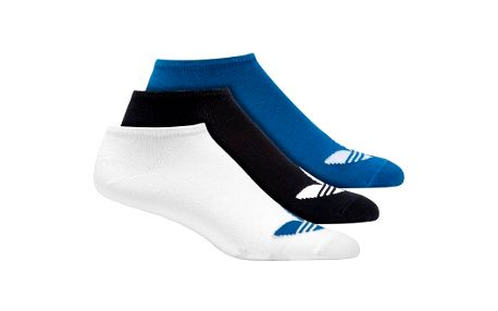 Unisex ponožky - Adidas ADICOLOR ANKLE SOCK bluebird/white 43-46