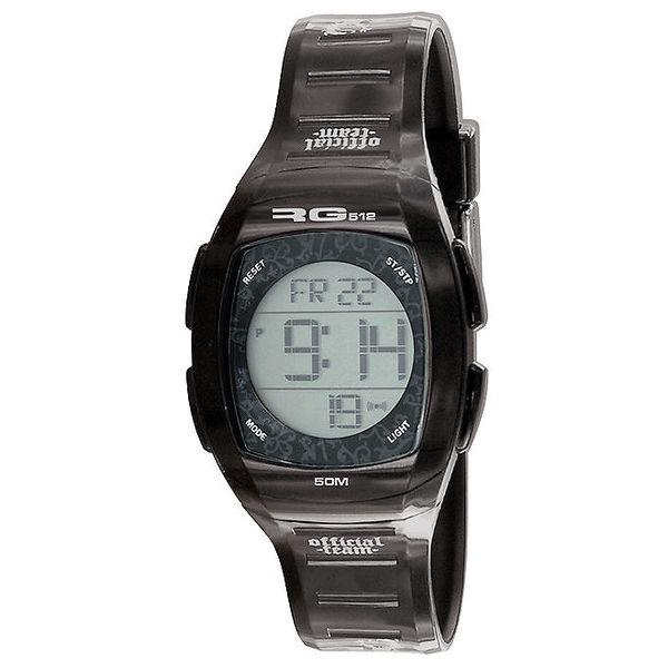 Černé kulaté digitální hodinky RG512