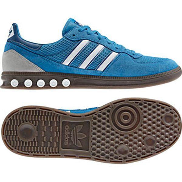 Pánská obuv na volný čas - Adidas HANDBALL 5 PLUG grey/blue/scale