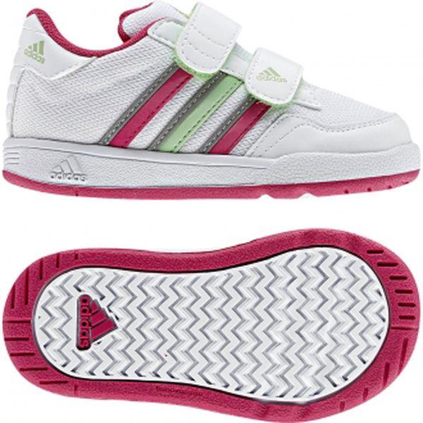 Dětská sportovní obuv - Adidas LK TRAINER 4 MESH CF I running white/pink/green