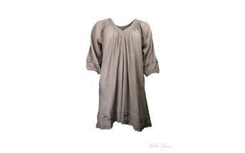 Nádherné lehké šaty Curly warm grey