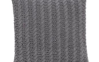 Pletený povlak na polštářek Grey 45x45