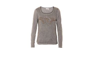 Bavlněné tričko Xenia s dlouhým rukávem
