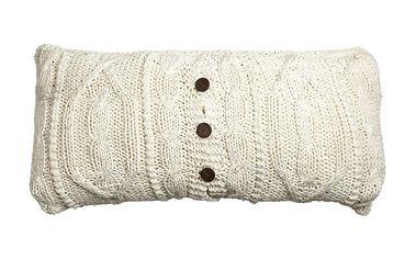 Pletený povlak na polštářek 30x50 cm