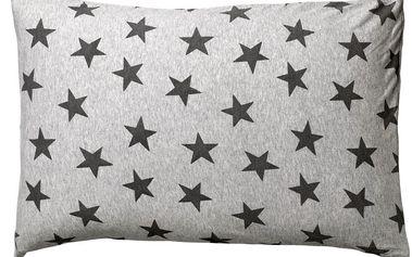 Polštář Stars grey 40x60