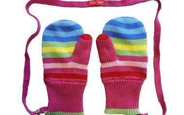 Barevné pruhované palčáky pro holčičky od Toby Tiger