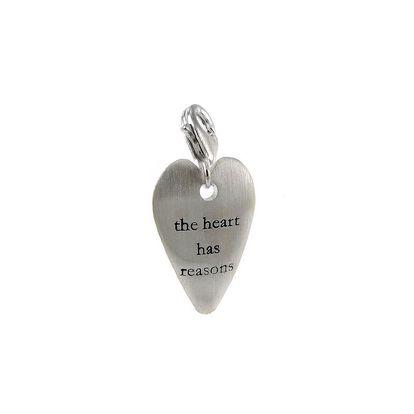 Stříbrný přívěsek Love story - Heart