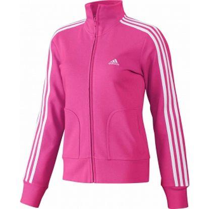 Dámská sportovní mikina - adidas essentials 3s tracktop pink/white