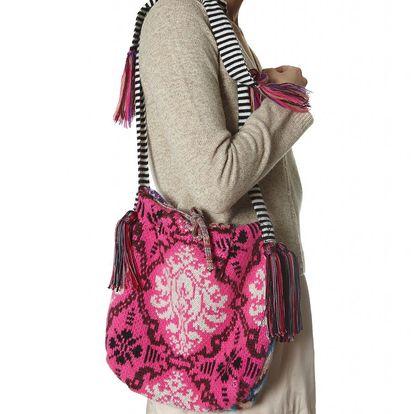 Originální pletená taška - multi 272 přes rameno