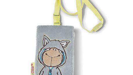 Plyšové pouzdro na mobil s ovečkou šedé