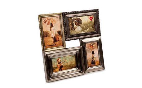 Černý rámeček na čtyři fotky