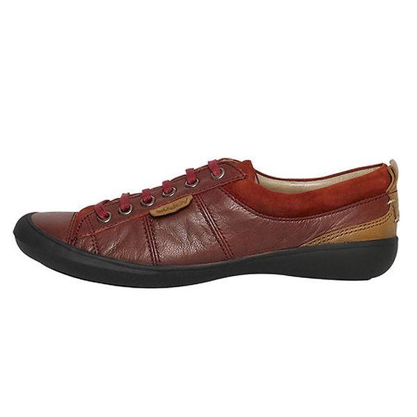 Dámské nízké oranžovohnědé šněrovací boty Buggy
