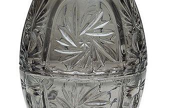 Skleněná dóza vajíčko Grey
