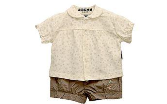 Set smetanové košilky a béžových kraťásků