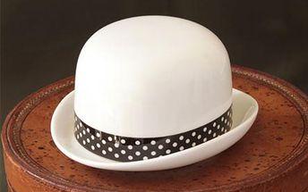 Cukřenka klobouk s puntíkatou mašlí