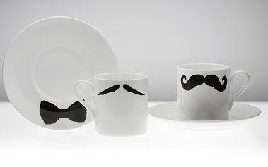Hrnek na Espresso Maurice Poirot s podšálkem