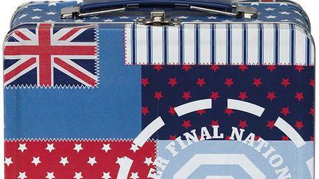 Plechový svačinový kufřík Winston Blue